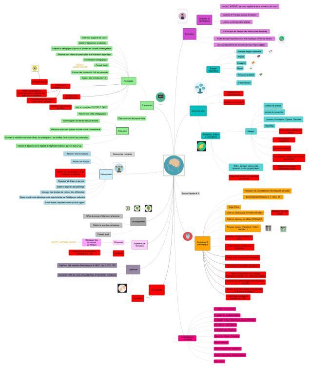 Carte mentale de mes compétences #3